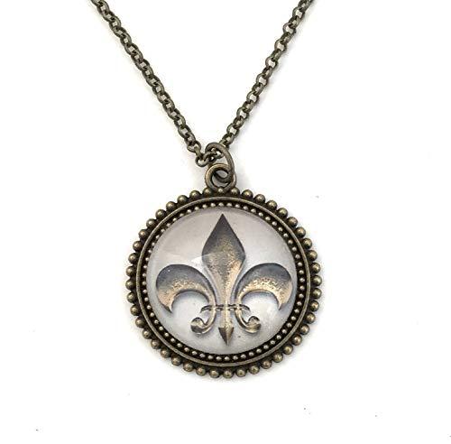 - Fleur de Lis Necklace for Women - French Lily Flower