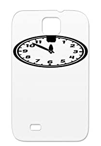 TPU Watch Prompt Arrival Hour Delay Time Clock Symbols Shapes On Twelve 12 Miscellaneous Black For Sumsang Galaxy S4 Uhr F1 Protective Case