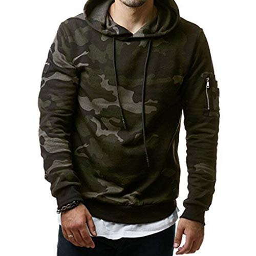 Aiweijia Print Hooded Men Pullovers Coat Sudaderas Sudaderas Jacket Camuflaje