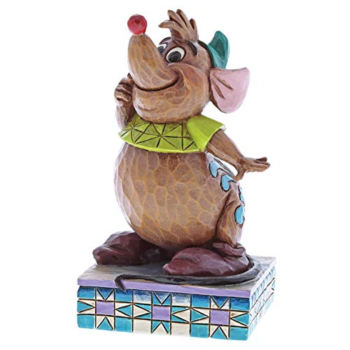 Enesco Disney Traditions by Jim Shore Gus Cinderelly's Friend Figurine, 3.75 Inches, Multicolor]()