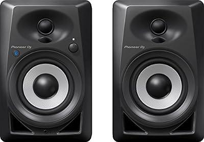Pioneer DJ DM-40BT Bluetooth Desktop Monitors (Pair), Black by Pioneer Pro DJ