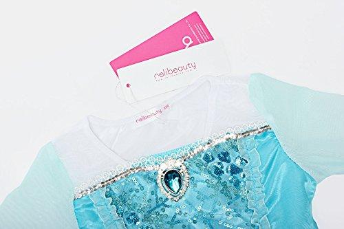Vestire Manica Paillettes Blu Ragazze Relibeauty Lunga Di Luce Costume Principessa gnI0q
