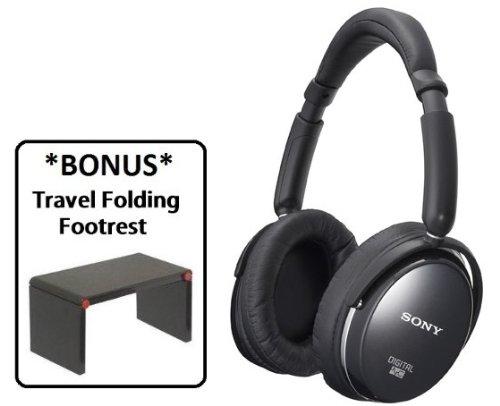 Sony MDR-NC500D Digital Noise Canceling Headphone with *BONUS* Travel Folding Footrest