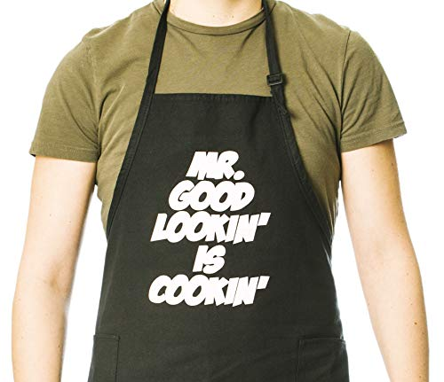 Funny Guy Mugs Mr. Good Lookin' is Cookin' Apron, One Size, -