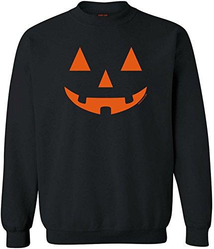 JACK O' LANTERN PUMPKIN Halloween Black Crewneck Sweatshirt-L for $<!--$21.95-->