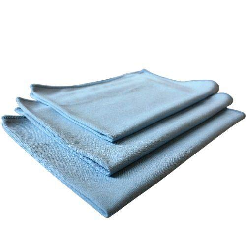 THE RAG COMPANY (3-Pack) 16 in. x 24 in. Premium Window, Glass, Mirror & Chrome Professional Korean 70/30 Microfiber LINT-FREE, STREAK-FREE Detailing Towels by THE RAG COMPANY