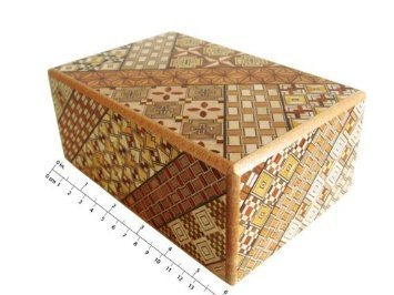 Yosegi Japanese Puzzle Box 5 sun - 27 steps by Japanese Puzzle Boxes