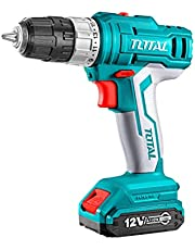TOTAL Lithium Ion Cordless Drill 12V 2 Battery , 2725209639308