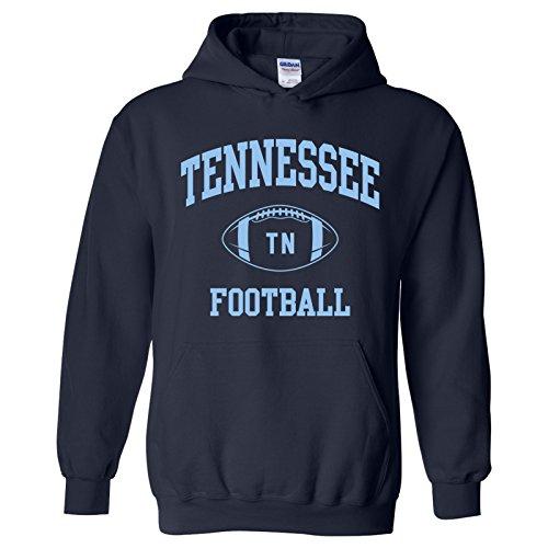 (Tennessee Classic Football Arch American Football Team Sports Hoodie - Medium - Navy)