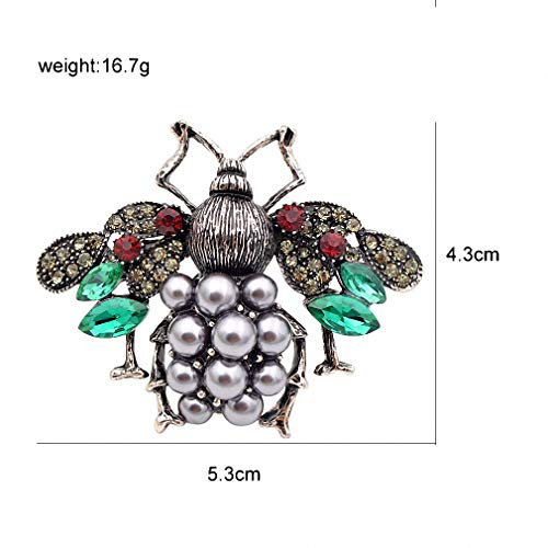 Jana Winkle 3 Colors Choose Pearl Rhinestone Big Bee Brooches Women Insect Pin Gift Coffee by Jana Winkle (Image #3)'