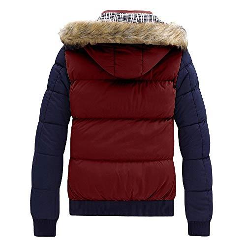 Veste Vin Garçons Manteau A Blouse Doudoune Chaud Hommes Top Innerternet À Zipper Casual Du Épais Homme Hiver Outwear Capuche Plus A6qgf