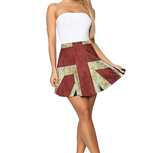Girl Dress,Vintage Union Jack Amazing Vine Skirt for Party -