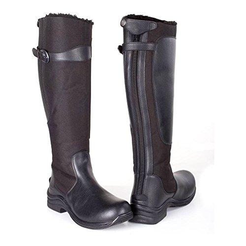 TOGGI Chinook Fleece Lined Boot, Stivali da Equitazione Unisex-Adulto Black