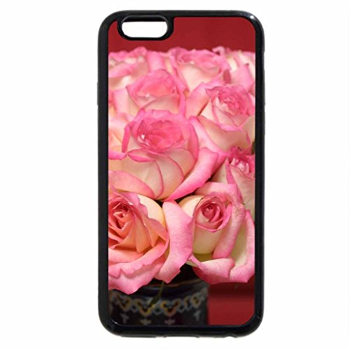 iPhone 6S Case, iPhone 6 Case (Black & White) - Beautiful Valentine's Day Roses