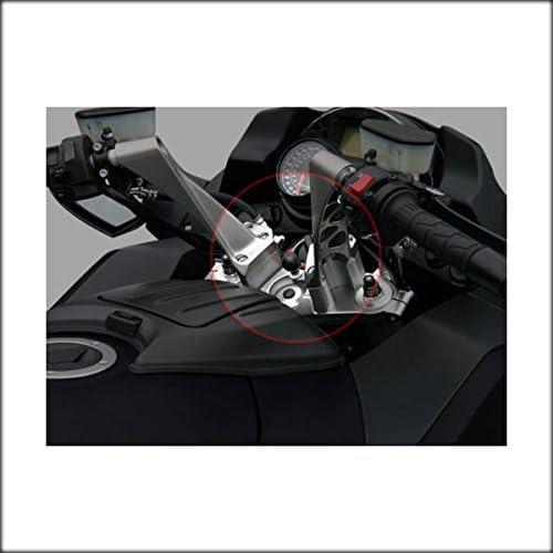 2008-2019 Black Kawasaki Concours 14 GTR1400 1400GTR Handlebar 2 Inch Bar Risers in Black Anodize