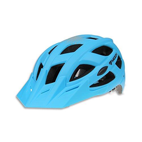 MOON Bicycle Helmet, MTB Adult Helmet Ultralight Cycling Helmet Sports IN-Mold BICYCLE PC+EPS Mountain Bike Cycling HELMET for Road Mountain Biking Racing, Safety Protect Sport Helmet,Matt Finish Blac
