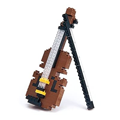Nanoblock NAN-NBC018 Violin Building Set - Multicolor: Toys & Games