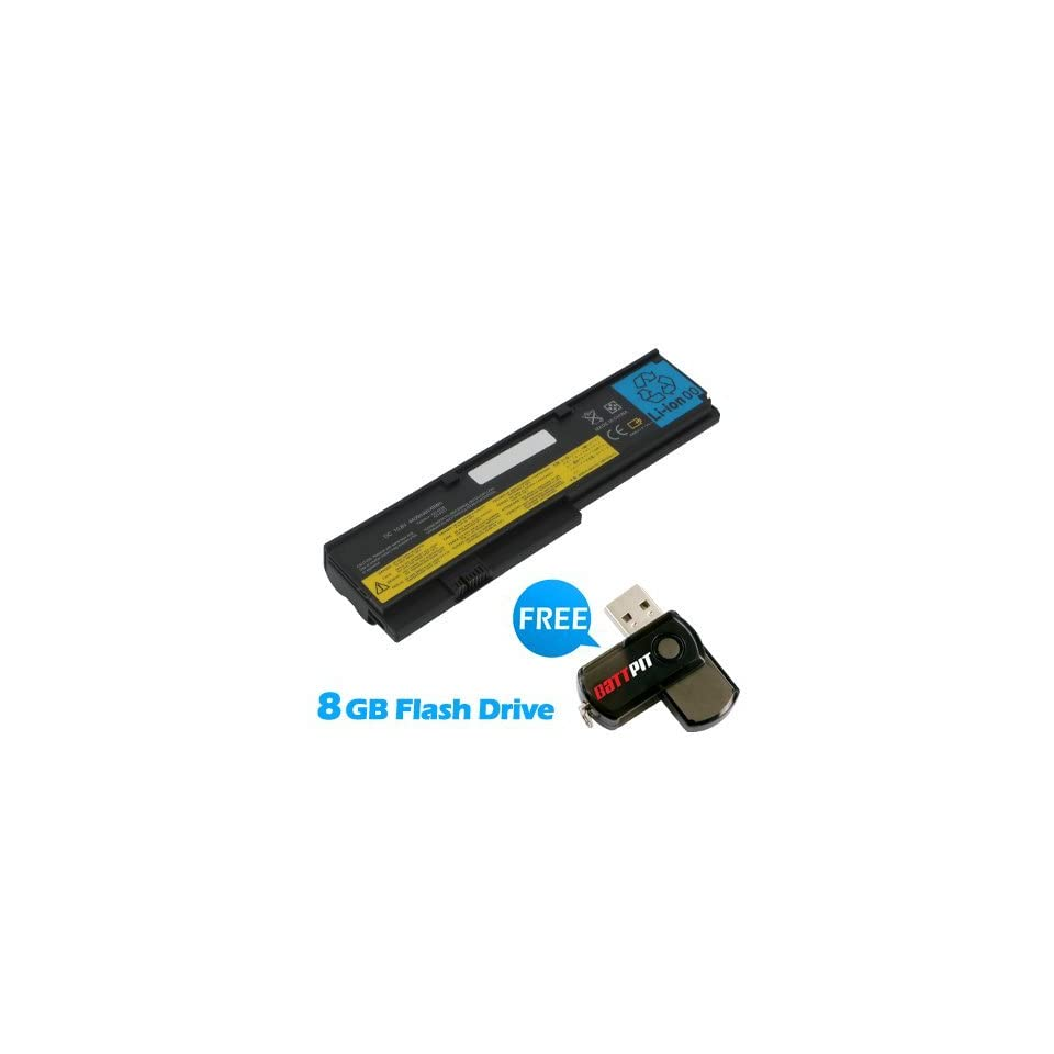 Battpit™ Laptop / Notebook Battery Replacement for IBM ThinkPad X201 (4400 mAh) with FREE 8GB Battpit™ USB Flash Drive