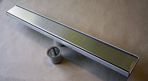 "Eccoedge Luxury 24"" Polished Stainless Steel Linear Drain, width 3.34"" 60%OFF"