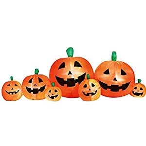 Airflowz Inflatable 8′ Pumpkin Patch Inflatable Halloween Decoration Autumn Fall Harvest