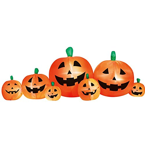 Airflowz Inflatable 8' Pumpkin Patch Inflatable Halloween Decoration Autumn Fall -