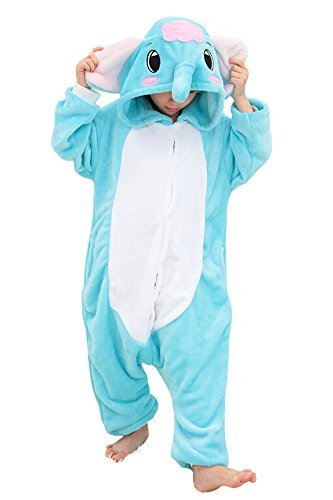 Tonwhar Children's Halloween Costumes Kids Kigurumi Onesie Animal Cosplay (85(height:37.4