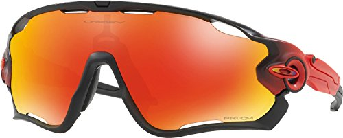 Oakley Men's Jawbreaker Non-Polarized Iridium Rectangular Sunglasses, Ruby Fade, 31 - Ruby Sunglasses
