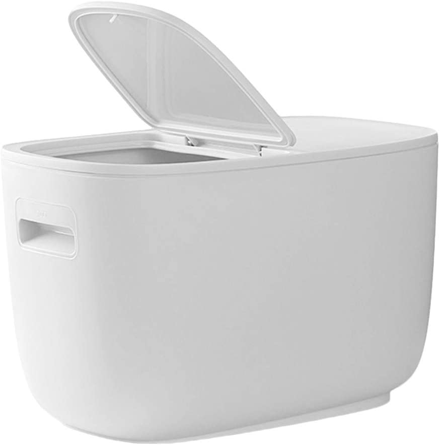 YARNOW Rice Storage Containers Rice Storage Bin Dog Food Containers for Rice Grain Cereal Oatmeal Sugar Nuts Beans (White)