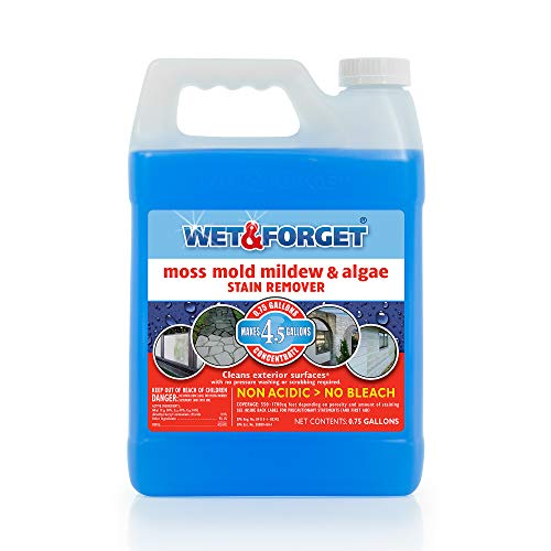 Wet and Forget 800003 Wet And Forget Moss Mold Mildew & Algae Stain Remover,0.75 Gallon - One Pack
