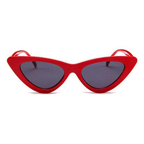 Grigio Vintage Mod Cat Style Retro Rosso Kurt Eye Cobain Hzjundasi Sunglasses wOknP0