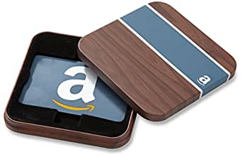 Amazon.com Gift Card for Any Amount in a Brown & Blue Tin (Classic Blue Card Design)