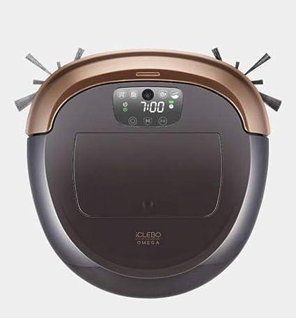 مكنسة كهربائية روبوت اوميغا لون ذهبي واسود من اي كليبو YCR-M07-10