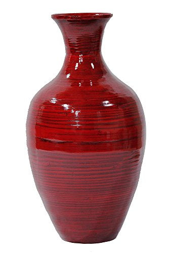 Heather Ann Creations W33954-ORD Crafted Classic Large Water Jug Spun Bamboo Vase