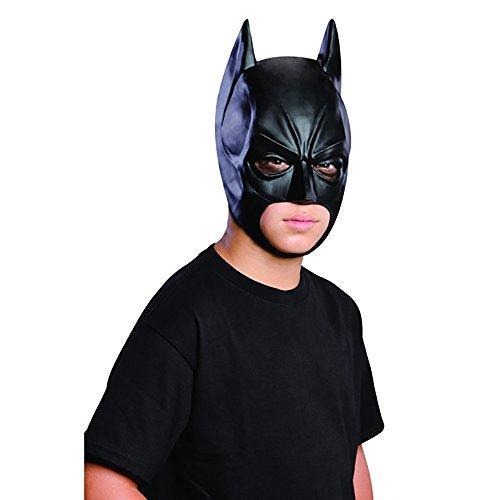 [Batman Child Kids Youth Dark Knight 3/4 Vinyl Latex Mask Ages 6+] (Batman Vinyl 3/4 Mask)
