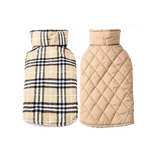 EDUPLINK Dog Jacket Dog Coat Vest Winter Coat, Warm Dog Apparel Cold Waterproof Windproof, Weather Dog Jacket Reversible…