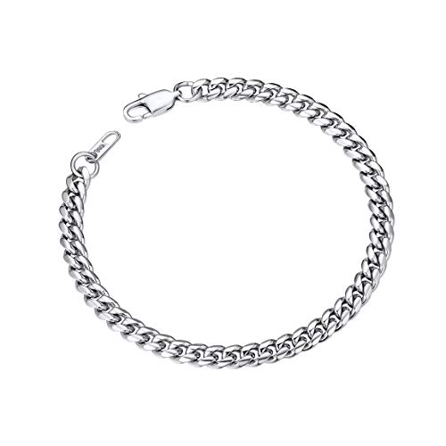 Male Bracelets Stainless Steel Heavy Wrist Chain 6MM 21 cm]()