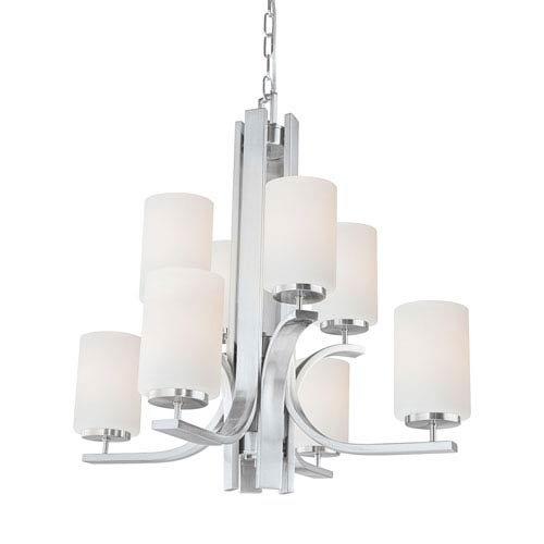 Elk Lighting TK0008217 Pendenza 8-Light Brushed Nickel Chandelier Elk Group International