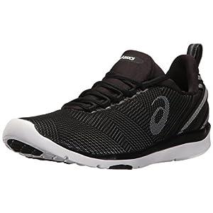 ASICS Women's Gel-Fit Sana 3 Cross-Trainer Shoe, Black/White/Silver, 6.5 M US