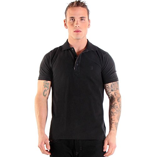 Diesel, T-Kalanit, Herren-Polo-Shirt, schwarz.