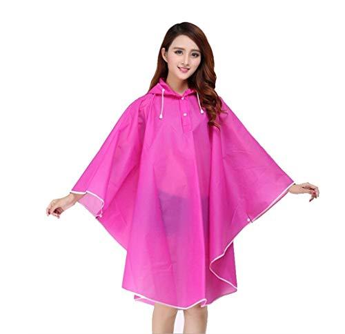 Rot Casual Impermeable Capucha Elegante Rain Poncho Cap Rose Unisex Lady Agua Translúcido Eva q7OanX7rw