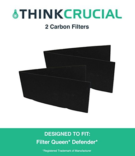 2 Pre Cut Filter Queen Carbon Filters Fit Room Air Cleaners, Designed & Engineered by Crucial Air