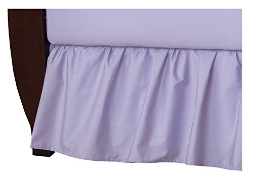 American Baby Company 100% Cotton Percale Ruffled Crib Skirt, Lavender (Bedding Crib Separates)