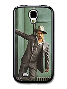AMAF ? Accessories Johnny Depp Gangster Hat Posing Actor case for Samsung Galaxy S4