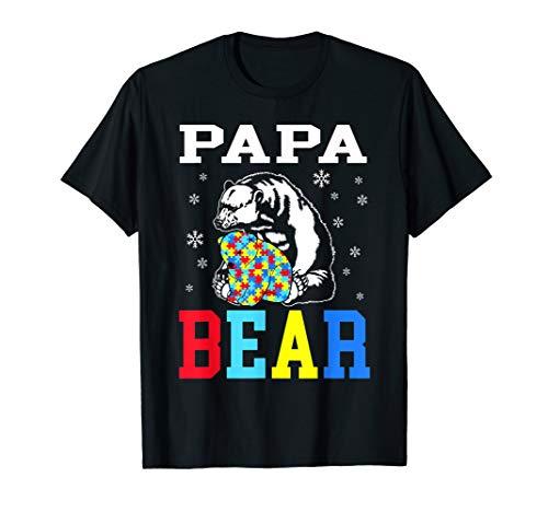 Autism Papa Bear Shirt Autism Dad Awareness