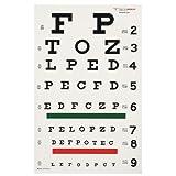 """DUKAL 3061 Tech-Med Illuminated Eye Chart, Snellen, 20' Test Distance, 9"""" Width, 14"""" Length"""