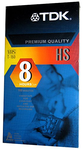 (TDK T-160 HS - Premium Quality - Blank VHS Tapes - 8 Hrs EP - 3 Pack)
