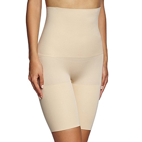 (Maidenform womens Control It! Slim Waisters Hi-Waist Thigh Slimmers(12622)-Latte Lift-2XL)