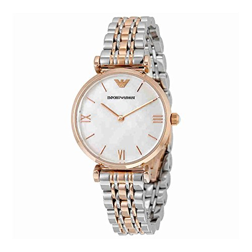 Emporio Armani Women's AR1683 Retro Two Tone Watch
