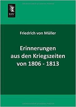 Book Erinnerungen aus den Kriegszeiten von 1806-1813