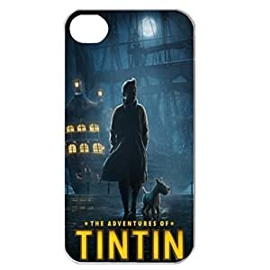 Cartoon Tintin and Snowy (b) Custom iPhone for iPhone 5 5s protective Durable case